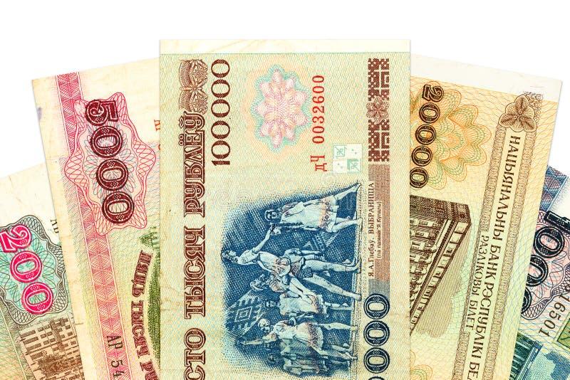 Rozsypisko belarusian rubli banknoty obraz royalty free