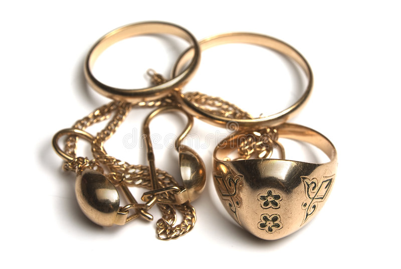 rozsypisko biżuteria obraz royalty free