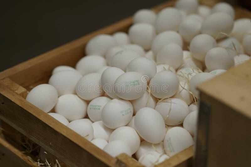 Download Rozsypisko biali jajka obraz stock. Obraz złożonej z karmazynka - 106916531