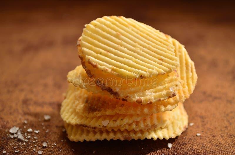 Rozsypisko chipsy obrazy stock