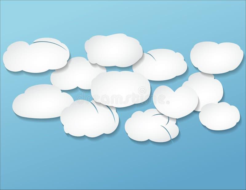 Rozsypisko chmury ilustracja wektor