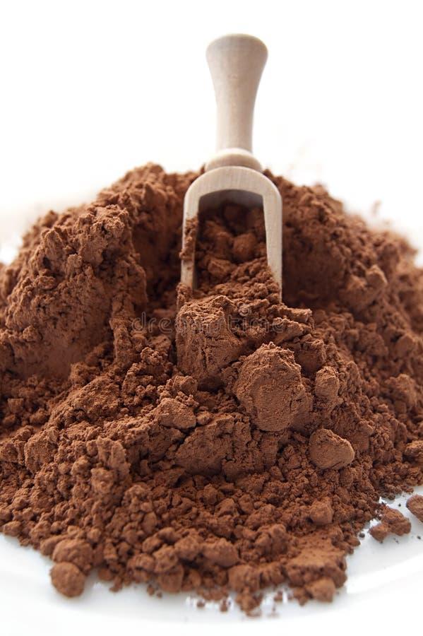 Rozsypisko kakaowy proszek obrazy royalty free