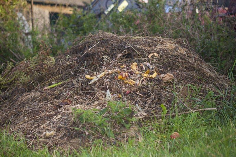 Rozsypisko karmowy odpady fotografia stock