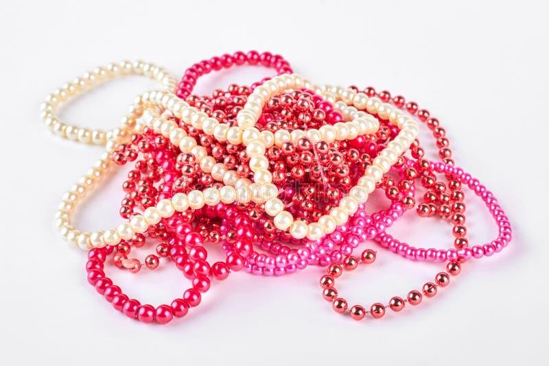 Rozsypisko koralik kolia różni kolory fotografia royalty free