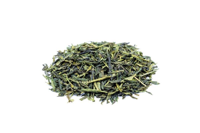 Rozsypisko luźna zielona herbata Sencha zdjęcie royalty free