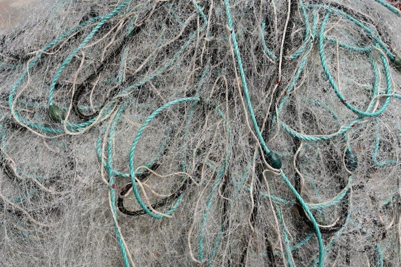 Rozsypisko nylonowa sieć rybacka obrazy royalty free