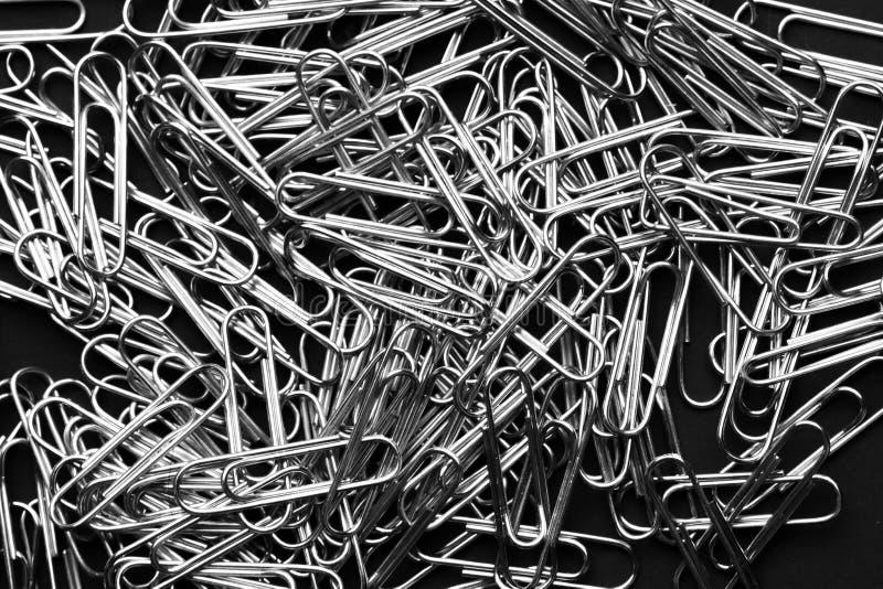 Rozsypisko papierowe klamerki - Wyszczególnia zbliżenie abstrakta materiały fotografia royalty free