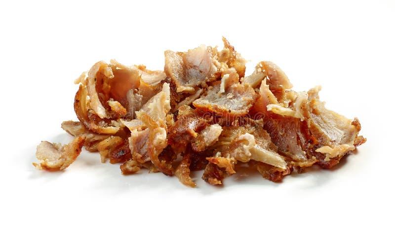 Rozsypisko pieczonego kurczaka mięso obrazy stock