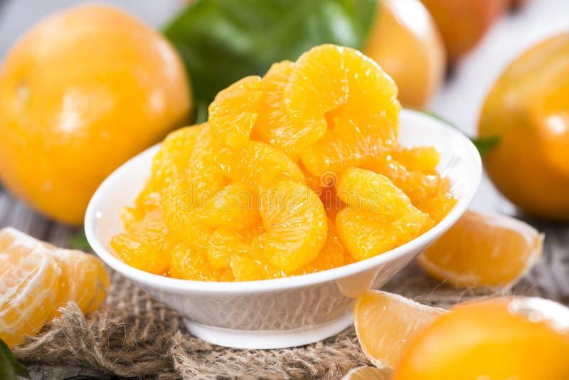 Rozsypisko Utrzymani Tangerines obraz royalty free