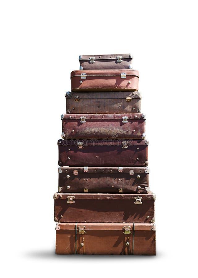 Rozsypisko walizki zdjęcie royalty free