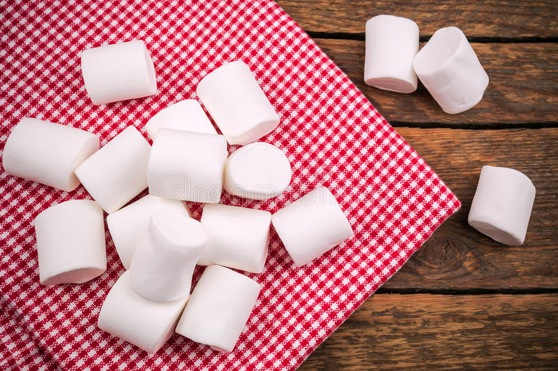Rozsypisko wyśmienicie marshmallow fotografia stock