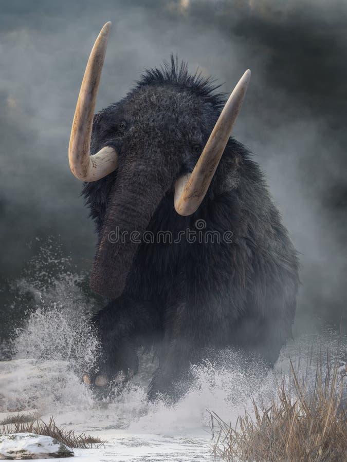 Rozszalały mamut royalty ilustracja