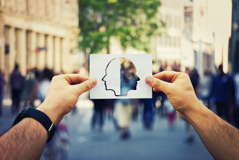 Rozszczepiona osobowość zdjęcia stock
