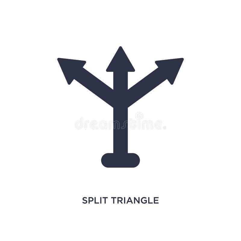 rozszczepiona trójbok ikona na białym tle Prosta element ilustracja od strzały pojęcia ilustracji