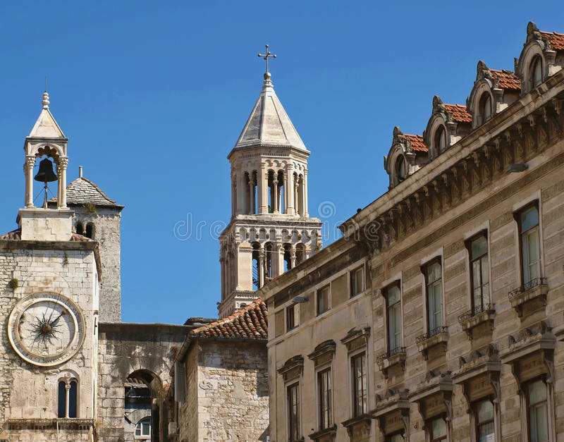rozszczepiony Croatia miasteczko zdjęcie royalty free