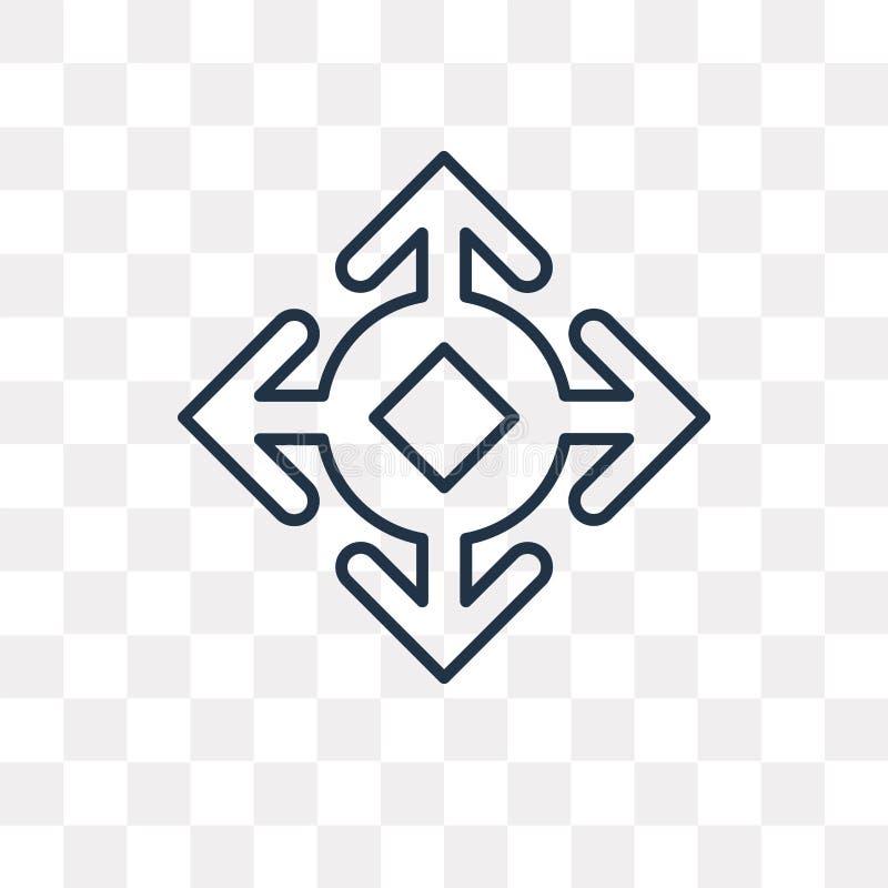 Rozszerza wektorową ikonę odizolowywającą na przejrzystym tle, liniowy Ex ilustracja wektor