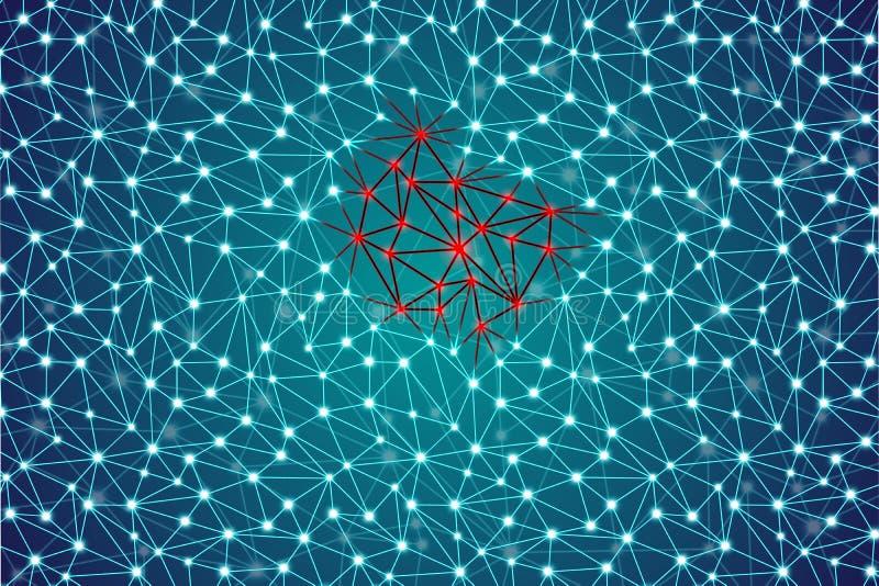 Rozszerzanie się nowotwór, bolak lub wirus, abstrakcjonistyczny plexus wzoru tło royalty ilustracja