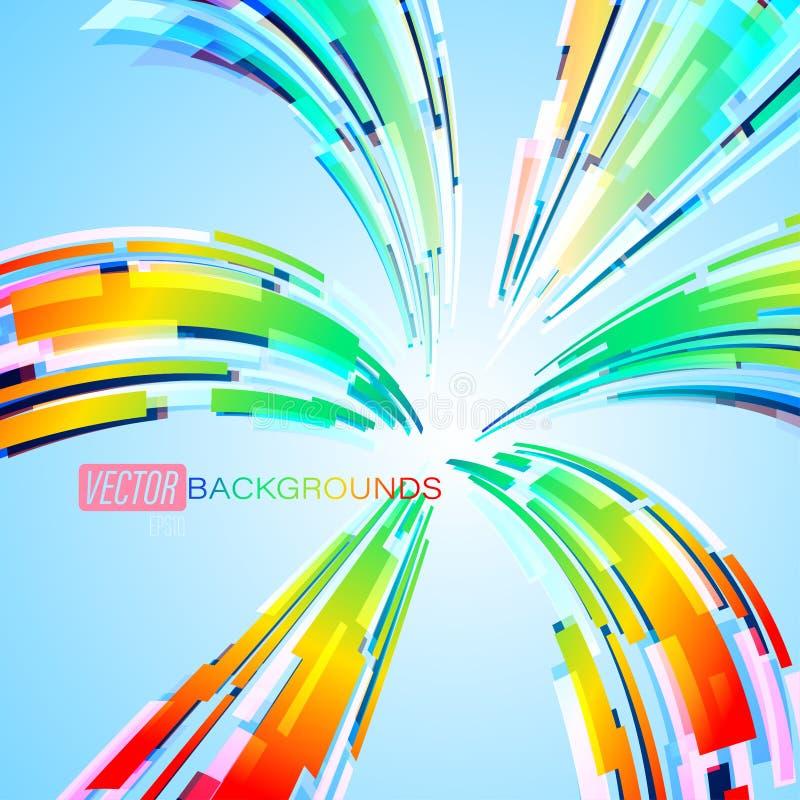 Rozszerzanie się barwi abstrakt na błękitnej scenie ilustracja wektor