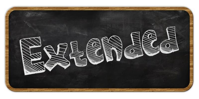 ROZSZERZONY pisać w kredzie na blackboard ramowy drewna royalty ilustracja