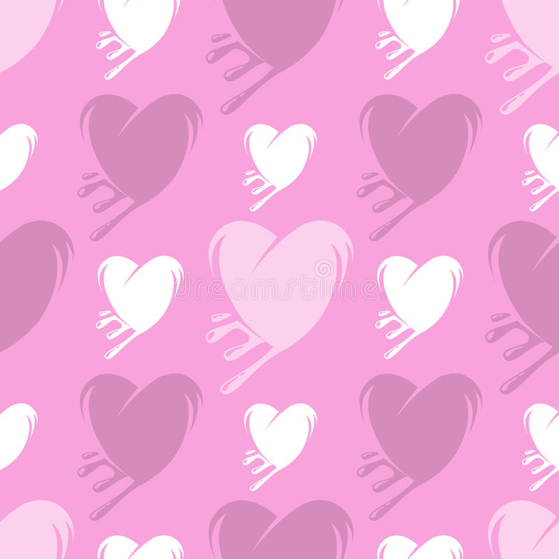 Roztapiających serc bezszwowy wzór royalty ilustracja