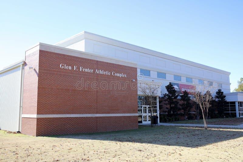 Roztoka F Fenter Sportowy kompleks przy ASU południe zdjęcia royalty free