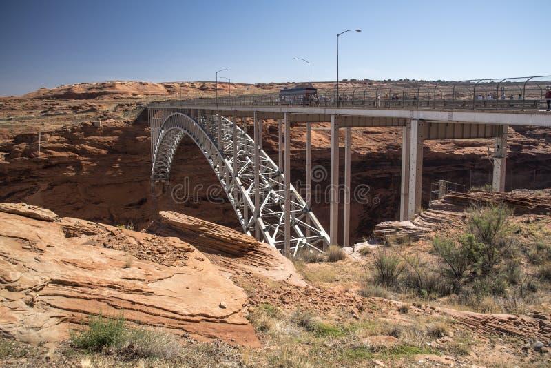 Roztoka jaru tamy tamy most od Carl Hayden gościa Centre strony Arizona fotografia stock