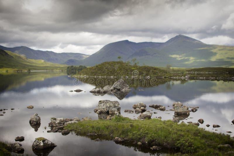 Roztoka spokój w Szkockich średniogórzach fotografia royalty free