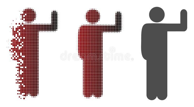 Roztrzaskana kropki Halftone głosowania pozy ikona ilustracji