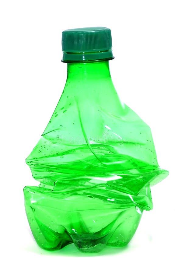 Roztrzaskująca plastikowa butelka zdjęcia stock