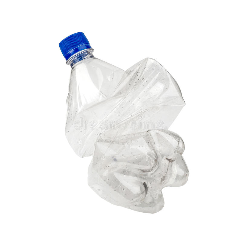 Roztrzaskująca Plastikowa butelka obraz royalty free