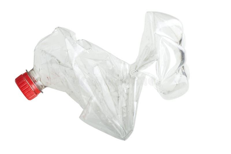 Roztrzaskująca plastikowa sodowana butelka fotografia stock