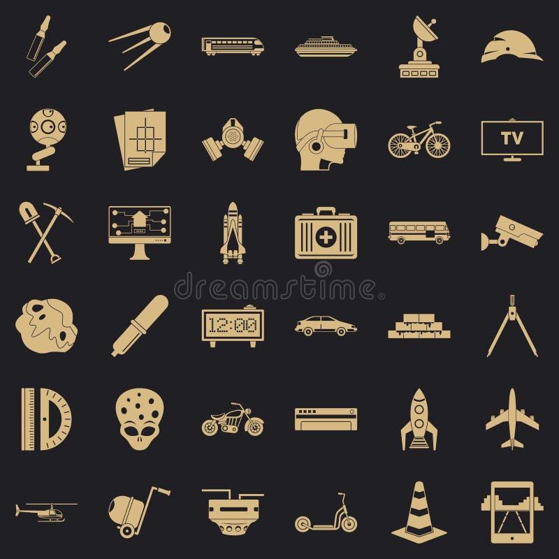 Rozwój biznesu ikony ustawiać, prosty styl ilustracji