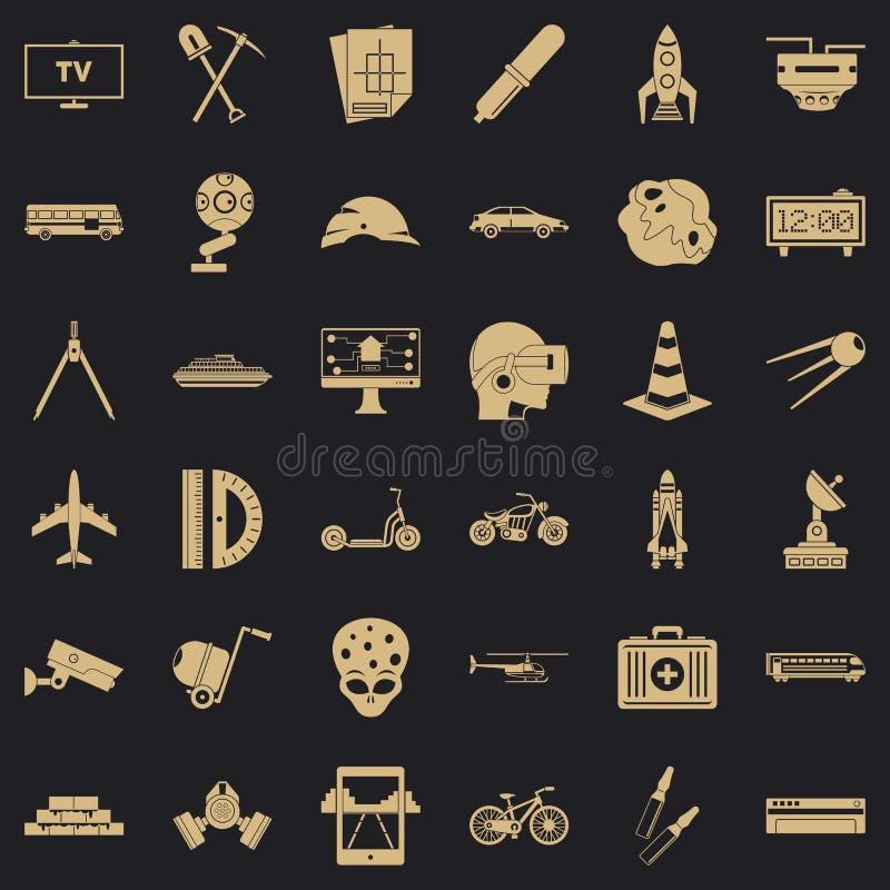 Rozwój ikony ustawiać, prosty styl royalty ilustracja