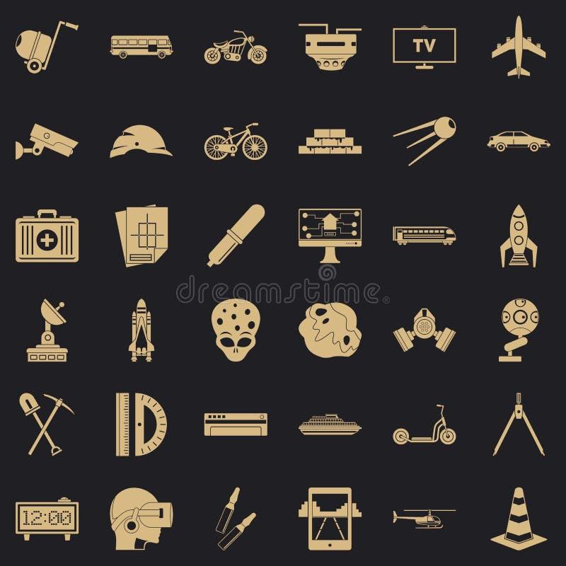 Rozwój w toku ikony ustawiać, prosty styl ilustracja wektor