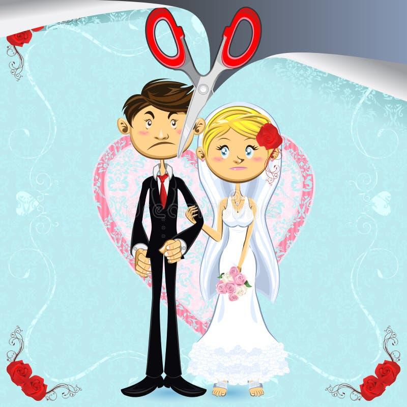 rozwód ilustracja wektor