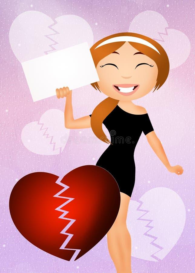 rozwód royalty ilustracja