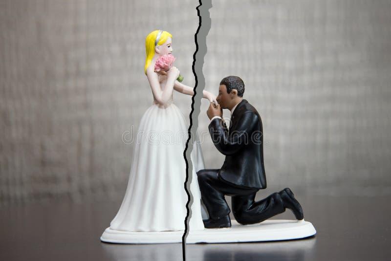 Rozwód para obraz royalty free