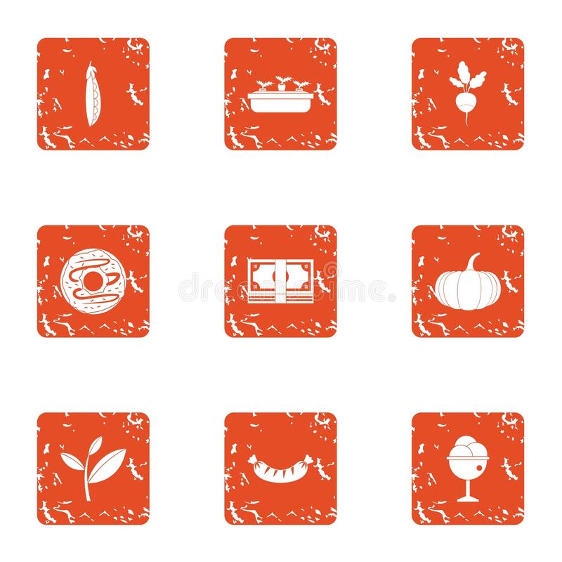 Rozwój średniorolne ikony ustawiać, grunge styl ilustracja wektor