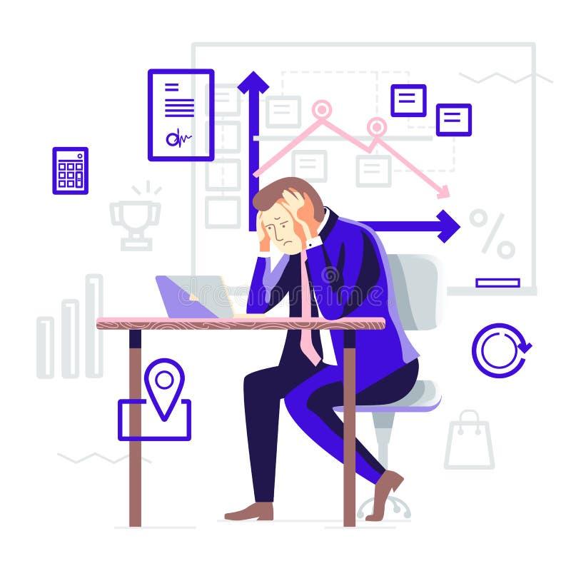 Rozwój biznesu ilustracja wektor