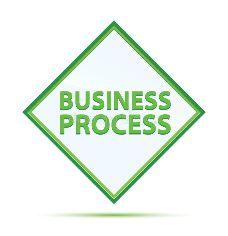 Rozwój Biznesu abstrakta nowożytnej zieleni diamentowy guzik royalty ilustracja