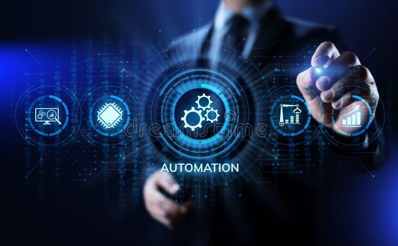 Rozwój biznesu automatyzacji technologii innowacji optimisation przemysłowy pojęcie zdjęcia stock