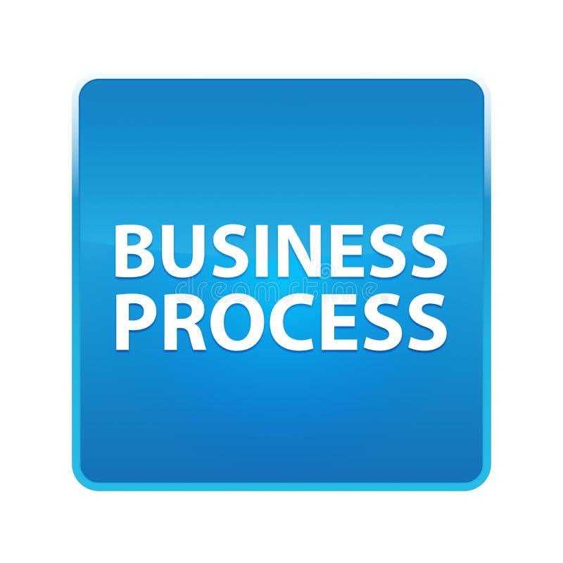 Rozwój Biznesu błękita kwadrata błyszczący guzik ilustracji