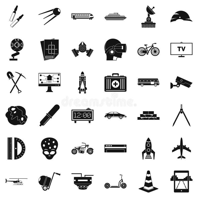 Rozwój biznesu ikony ustawiać, prosty styl ilustracja wektor