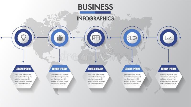 Rozwój biznesu Linii czasu infographics z 3 opcjami, okręgi rabatowy bobek opuszczać dębowego faborków szablonu wektor Trzy krokó ilustracja wektor