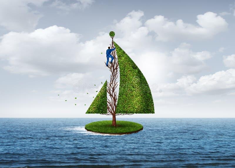 Rozwój Biznesu metafora ilustracji