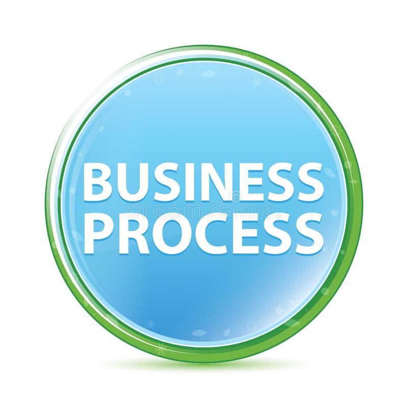 Rozwój Biznesu naturalnego aqua round cyan błękitny guzik royalty ilustracja