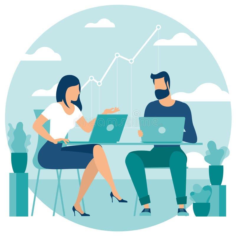 Rozwój biznesu obieg zarządzanie ilustracji