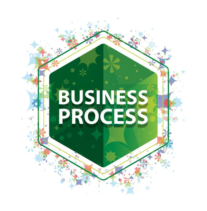 Rozwój Biznesu rośliien wzoru zieleni sześciokąta kwiecisty guzik royalty ilustracja