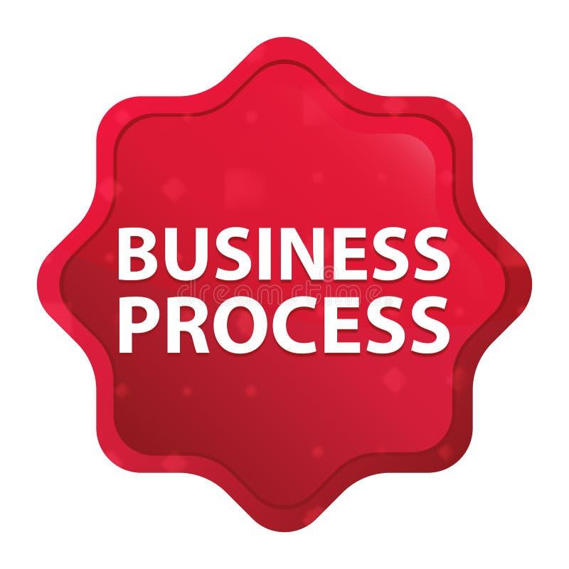 Rozwój Biznesu starburst majcheru mglisty różany czerwony guzik ilustracja wektor