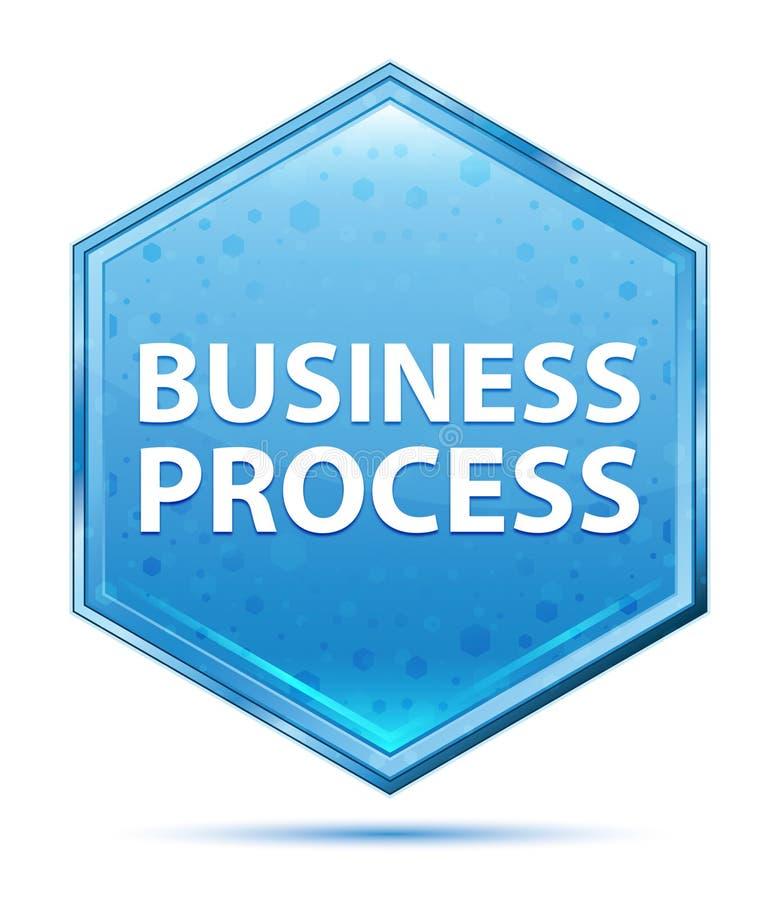 Rozwój Biznesu sześciokąta krystaliczny błękitny guzik ilustracji